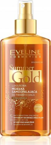 EVELINE - SUMMER GOLD MIST - Luksusowa mgiełka samoopalająca do twarzy i ciała - Ciemna karnacja - 150 ml
