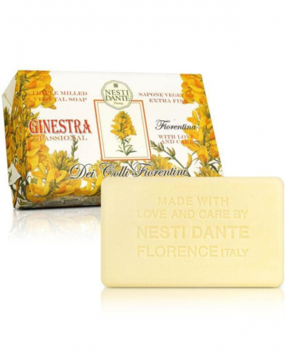 NESTI DANTE - Dei Colli Fiorentini - Naturalne mydło toaletowe - Ginestra Passional - 250g