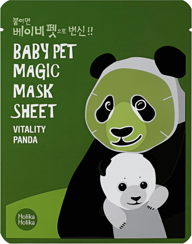 Holika Holika - Baby Pet Magic Mask Sheet - Witaminowa maseczka do twarzy w płacie - Vitality Panda