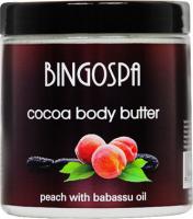 BINGOSPA - Cocoa Body Butter - Masło kakaowe do ciała z brzoskwinią i olejem babassu - 250g