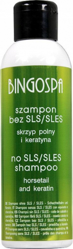 BINGOSPA - Hair shampoo without SLS / SLES with horsetail and keratin - 100ml