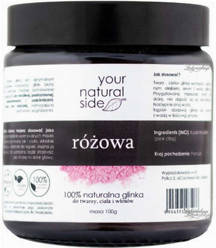 Your Natural Side - 100% naturalna glinka różowa - 100 g