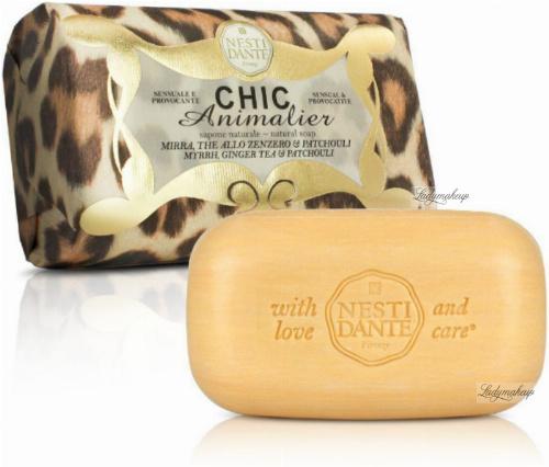 NESTI DANTE - CHIC Animalier - Naturalne mydło toaletowe - Brązowy Lampart - 250g