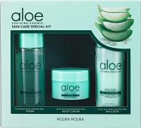 Holika Holika - Aloe Soothing Essence - Skin Care Special Kit - Set of cosmetics for dry and irritated skin