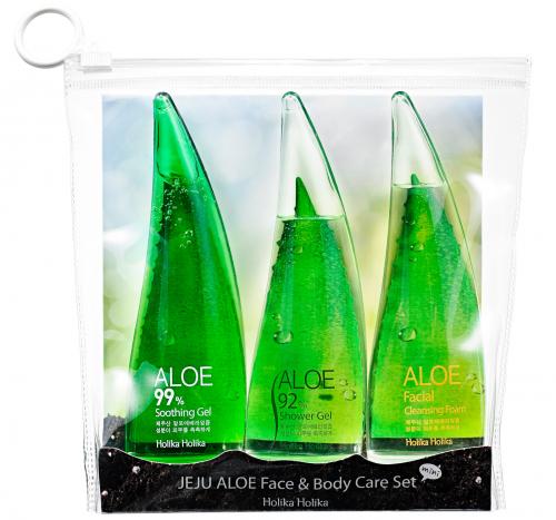 Holika Holika - JEJU ALOE - Face & Body Care Set - Zestaw 3 mini kosmetyków z aloesem