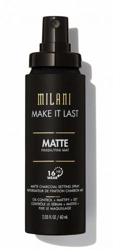 MILANI - MAKE IT LAST - MATTE CHARCOAL SETTING SPRAY - Utrwalacz do makijażu w sprayu z dodatkiem węgla aktywnego