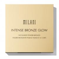 MILANI - INTENSE BRONZE GLOW FACE & BODY POWDER BRONZER - Wodoodporny puder brązujący do twarzy i ciała - 01 SUNKISSED BRONZE