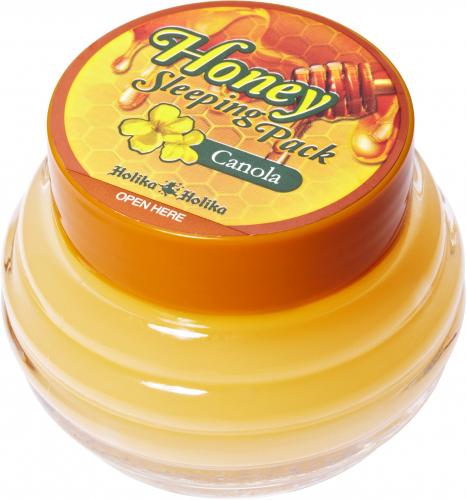 Holika Holika - Honey Sleeping Pack - Canola -  Całonocna maseczka do twarzy z dodatkiem oleju canola