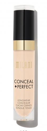MILANI - CONCEAL + PERFECT LONGWEAR CONCEALER - Wodoodporny korektor w płynie