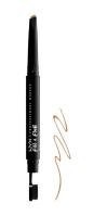 NYX Professional Makeup - Fill & Fluff Eyebrow Pomade Pencil - Pomada w kredce do wypełniania brwi  - BLONDE - BLONDE