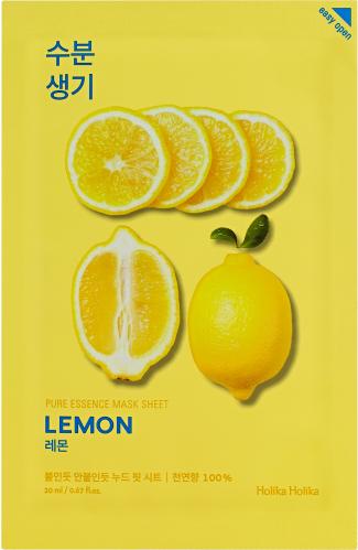 Holika Holika - Pure Essence Mask Sheet Lemon - Maseczka do twarzy z ekstraktem z cytryny