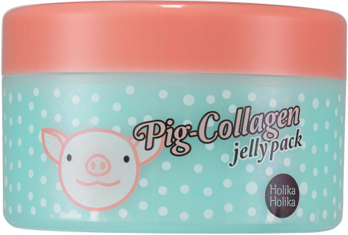 Holika Holika - Pig Collagen Jelly Pack - Kolagenowa maska do twarzy na noc - 80g