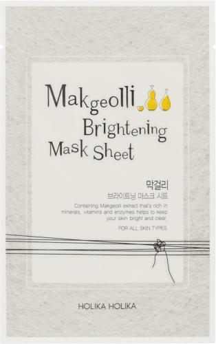Holika Holika - Makgeolli Brightening Mask Sheet - Rozjaśniająca maseczka do twarzy w płacie