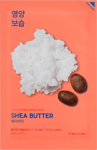 Holika Holika - Pure Essence Mask Sheet Shea Butter - Nawilżająca maseczka do twarzy z masłem Shea