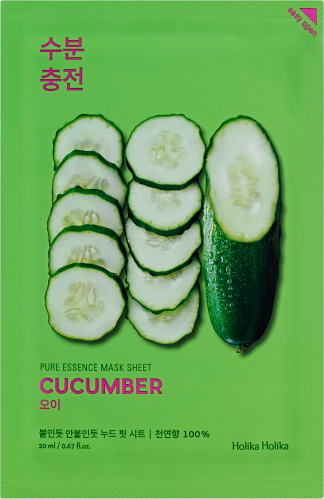 Holika Holika - Pure Essence Mask Sheet Cucumber - Maseczka do twarzy z ekstraktem z ogórka