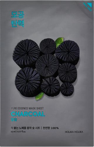Holika Holika - Pure Essence Mask Sheet Charcoal - Maseczka do twarzy w płacie z ekstraktem z węgla