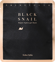 Holika Holika - Black Snail Repair Hydro-Gel Mask - Hydrogel face mask with snail mucus