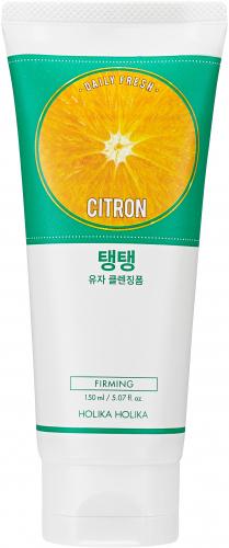Holika Holika - Daily Fresh - Citron Cleansing Foam - Ujędrniająca pianka do twarzy z ekstraktem z cytryny- 150 ml