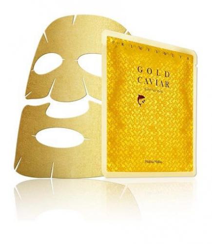 Holika Holika - Gold Caviar Gold Foil Mask - Maseczka do twarzy z cząsteczkami złota