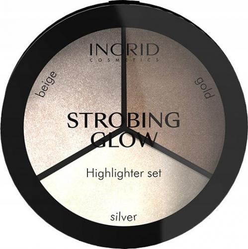INGRID - STROBING GLOW - Highlighter Set - Paleta rozświetlaczy do twarzy