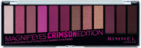 RIMMEL - MAGNIF'EYES - Eye Contouring Palette - Paleta 12 cieni do powiek - 007 CRIMSON EDITION