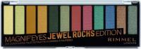 RIMMEL - MAGNIF'EYES - Eye Contouring Palette - Paleta 12 cieni do powiek - 009 JEWEL ROCKS EDITION