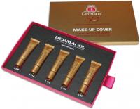 Dermacol - MAKE-UP COVER SET - Zestaw 5 mini podkładów mocno kryjących - 5x5 ml