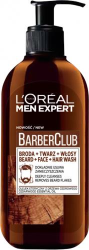 L'Oréal - MEN EXPERT - BARBER CLUB GEL - Żel oczyszczający do brody, twarzy i włosów - 200 ml