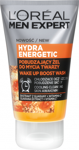 L'Oréal - MEN EXPERT - HYDRA ENERGETIC GEL - Pobudzający żel do mycia twarzy - 100 ml