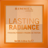 RIMMEL - LASTING RADIANCE FINISHING POWDER - Brightening powder for fixing make-up - 001 - IVORY - 001 - IVORY