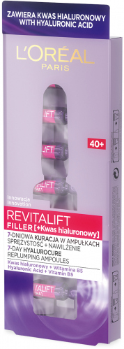 L'Oréal - REVITALIFT FILLER [HA] - 7 days anti-wrinkle treatment in ampoules - 40+