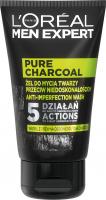 L'Oréal - MEN EXPERT - PURE CHARCOAL - Face wash gel against imperfections for men