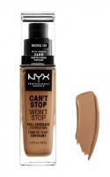 NYX Professional Makeup - CAN'T STOP WON'T STOP - FULL COVERAGE FOUNDATION - Podkład do twarzy - NEUTRAL TAN - NEUTRAL TAN