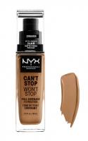 NYX Professional Makeup - CAN'T STOP WON'T STOP - FULL COVERAGE FOUNDATION - Podkład do twarzy - CINNAMON  - CINNAMON
