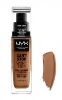 NYX Professional Makeup - CAN'T STOP WON'T STOP - FULL COVERAGE FOUNDATION - Podkład do twarzy - WARM CARAMEL  - WARM CARAMEL