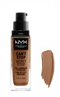 NYX Professional Makeup - CAN'T STOP WON'T STOP - FULL COVERAGE FOUNDATION - Podkład do twarzy - MAHOGANY - MAHOGANY