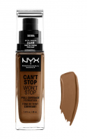 NYX Professional Makeup - CAN'T STOP WON'T STOP - FULL COVERAGE FOUNDATION - Podkład do twarzy - SIENNA - SIENNA
