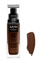 NYX Professional Makeup - CAN'T STOP WON'T STOP - FULL COVERAGE FOUNDATION - Podkład do twarzy - DEEP ESPRESSO - DEEP ESPRESSO