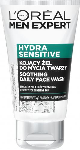 L'Oréal - MEN EXPERT - HYDRA SENSITIVE - Żel myjący do twarzy z wyciągiem z brzozy - Skóra wrażliwa - 100 ml