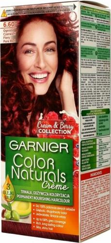 GARNIER - COLOR NATURALS Creme - Cream & Berry Collection - Trwała, odżywcza koloryzacja do włosów - 6.60 Ognista Czerwień