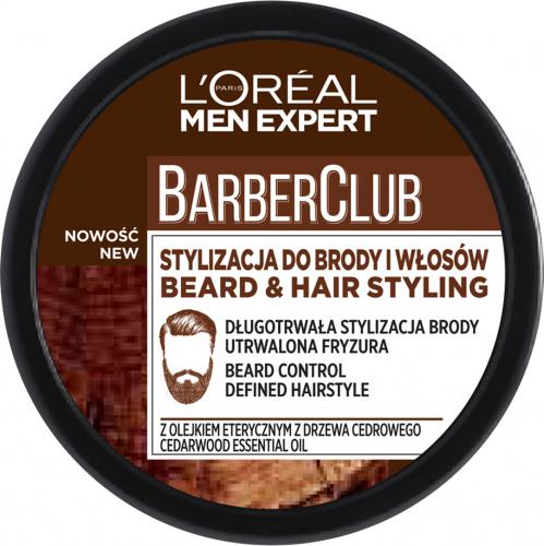 L'Oréal - Men Expert - Barber Club - Krem do stylizacji brody i włosów - 75 ml