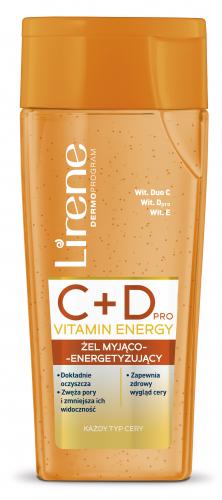 Lirene - C + D PRO VITAMIN ENERGY- Żel myjąco-energetyzujący do twarzy - 200 ml
