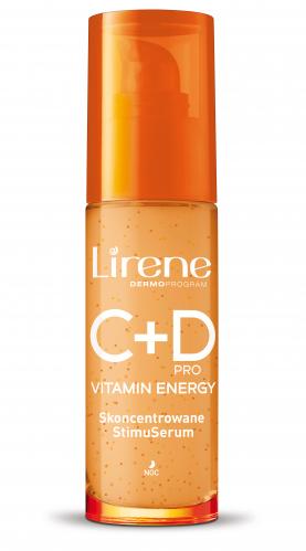 Lirene - C + D PRO VITAMIN ENERGY SERUM - Rozświetlająco-wygładzające serum do twarzy i szyi - 30 +