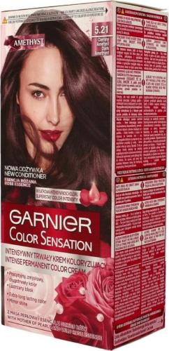 GARNIER - COLOR SENSATION - Trwały krem koloryzujący do włosów - 5.21 CIEMNY AMETYST