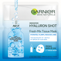 GARNIER - SKIN NATURALS - Fresh-Mix Tissue Mask - Moisturizing mask on fabric with hyaluronic acid
