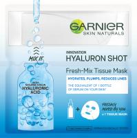 GARNIER - SKIN NATURALS - Fresh-Mix Tissue Mask - Nawilżająca maska na tkaninie z kwasem hialuronowym