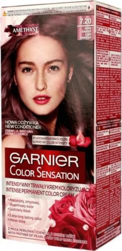 GARNIER - COLOR SENSATION - Trwały krem koloryzujący do włosów - 7.20 JASNY AMETYST