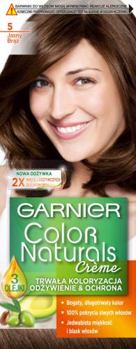 GARNIER - COLOR NATURALS Creme - Trwała, odżywcza koloryzacja do włosów - 5 Jasny Brąz