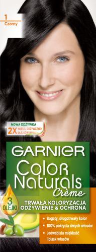 GARNIER - COLOR NATURALS Creme - Trwała, odżywcza koloryzacja do włosów - 1 Czarny