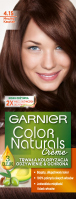 GARNIER - COLOR NATURALS Creme - Permanent, nourishing hair coloring - 4.15 Brownie Chocolate